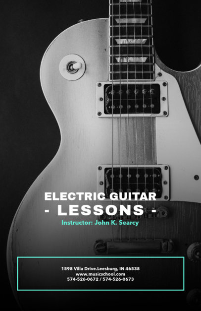 Electric Guitar Lessons Online Flyer Maker 157d