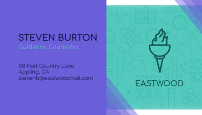 Teacher Business Card Maker 228b