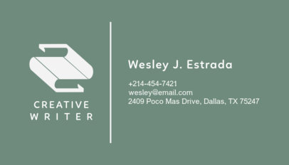 Business Card Template for Creative Writers 221c