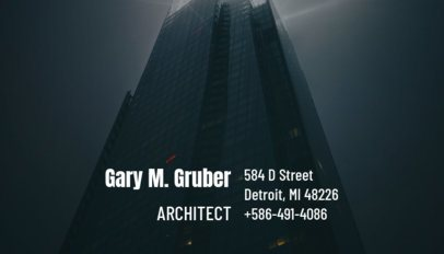 Business Card Maker for Architects 182a