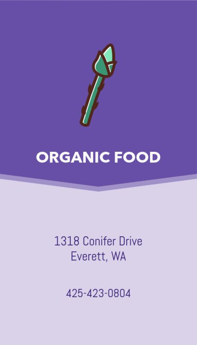 Organic Food Business Card Maker 215c