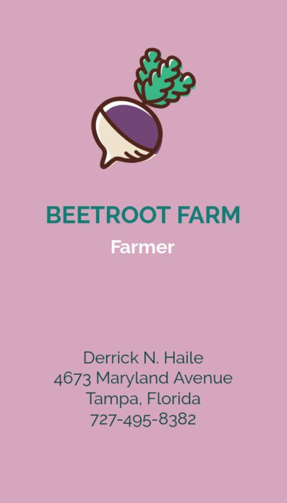 Farm Business Card Maker 215d
