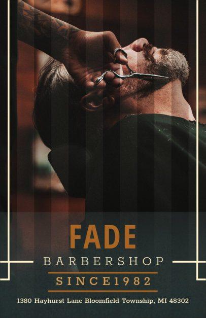 Barber Shop Flyer Maker with Color Image 212b