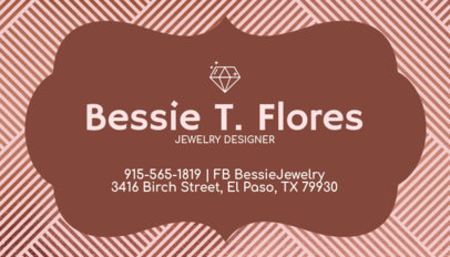 Customizable Business Card Maker for Jewelers 224c