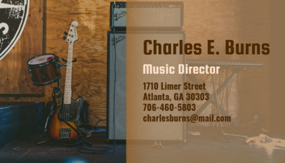 Music Producer Business Card Maker 101a