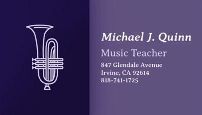 Music Business Card Maker for Music Teachers 101b