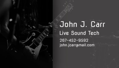 Business Card Maker for Sound Techs 101d