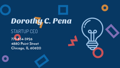 Business Card Maker for a Startup with Lightbulb Icon 209b