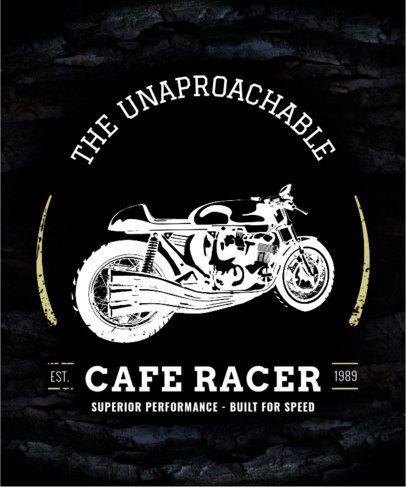 Vintage Motorcycle T-Shirt Design Template 330