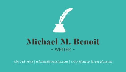 Business Card Maker with Minimalist Design for Writers 213d