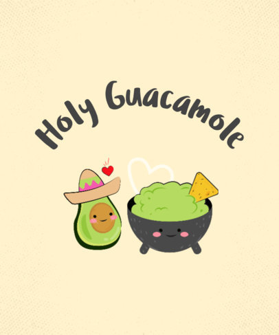Guacamole T-Shirt Design Maker 234a