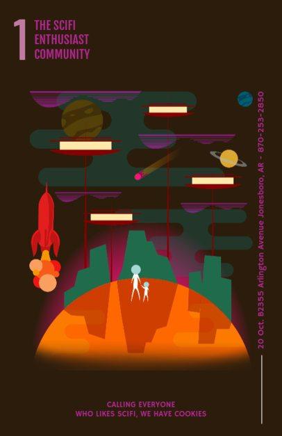 Online Flyer Maker for Sci-Fi Films 231c