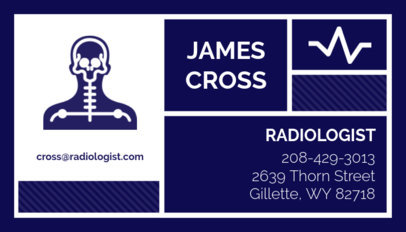 Radiologist Business Card Maker 47d