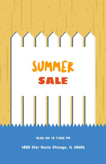 Online Flyer Maker for Summer Yard Sales 104d