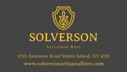 Online Business Card Maker for an Artisinal Brewery 239d