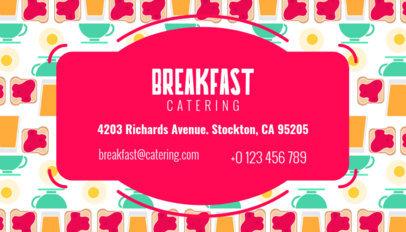 Breakfast Business Card Maker 143b