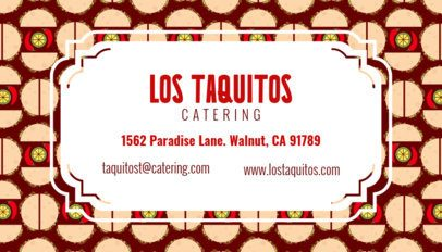 Tacos Business Card Maker 143c