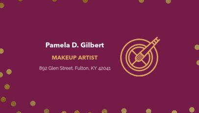 Customizable Business Card Template for Makeup Artists 112c