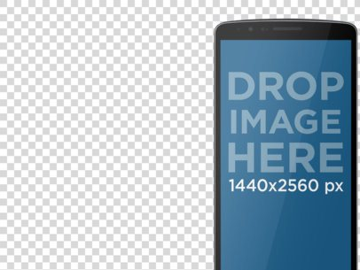 Android Mockup of Cropped LG G3 With Different Backgrounds