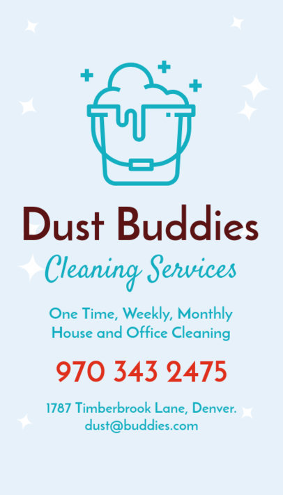 Commercial Cleaning Business Card Maker 164b