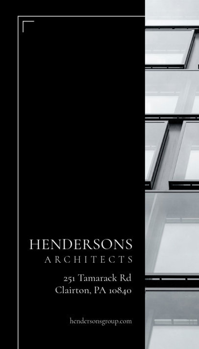 Business Card Maker for Architects 155e