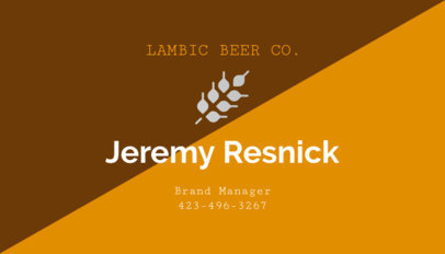 Online Business Card Maker for Craft Beer Breweries 244d