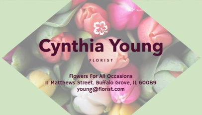 Florist Business Card Template with Customizable Images 152a