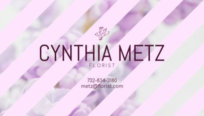 Business Card Maker for Florist with Floral Background 152c