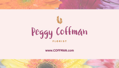 Flower Shop Business Card Template 152d