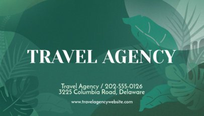 Travel Agency Business Card Template with Green Graphics 262e
