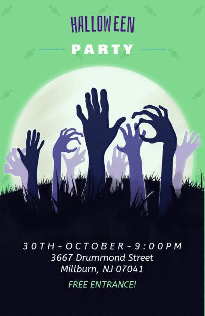 Halloween Party Online Flyer Maker 121b