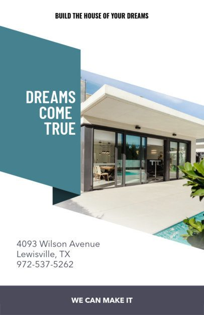 Online Flyer Maker for Real Estate Firms with Blue Theme 236b