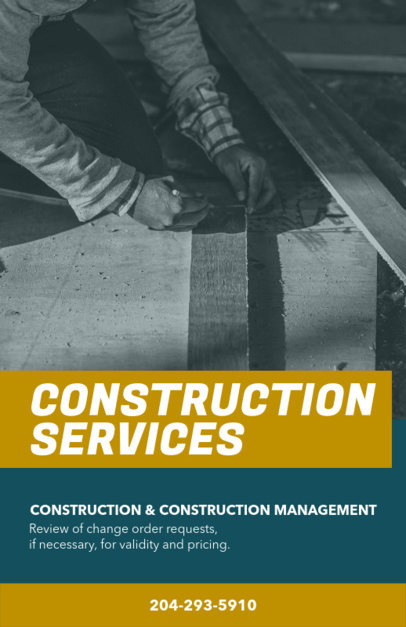 Customizable Flyer Maker for Construction Services 240c