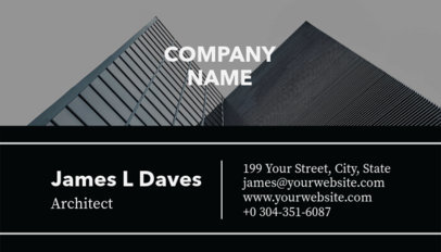 Black and White Business Card Template for Architects 241b