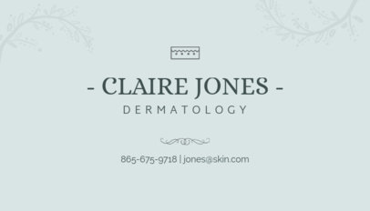 Minimalist Business Card Maker for Dermatologists 203d