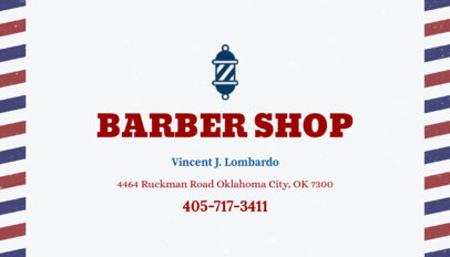 Business Card Maker for Barber Shop 103a
