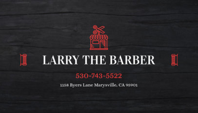 Business Card Maker for Barber Shop with Barber Images 103d