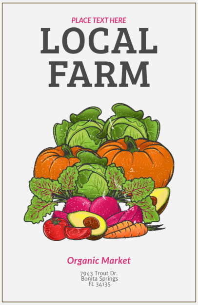 Online Flyer Maker for a Local Farmers Market 163c