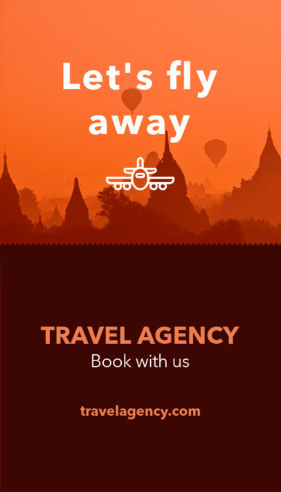 Vertical Business Card Template for a Travel Agency 166b