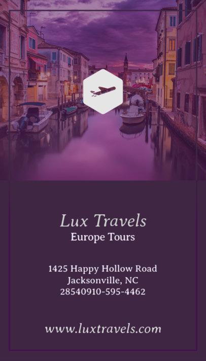 Luxury Travel Business Card Maker 166c