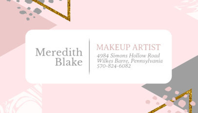 Business Card Template for Makeup Artists with Watercolor Background 246c