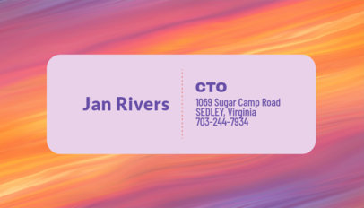 CEO Business Card Maker with Aesthetic Backgrounds 246d