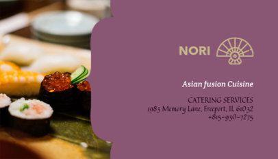 Asian Restaurant Business Card Maker 107b