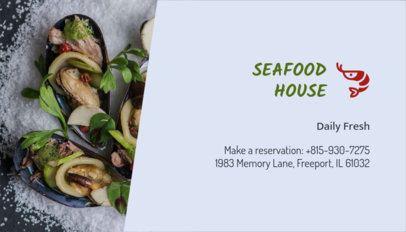 Seafood Restaurant Business Card Maker 107d