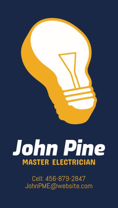 Electrician Business Card Maker for Lightbulb Icon 254a