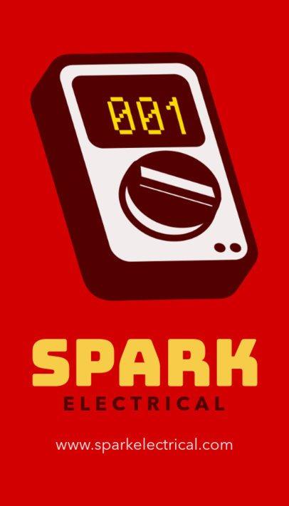 Online Business Card Maker for an Electrician Shop 254b