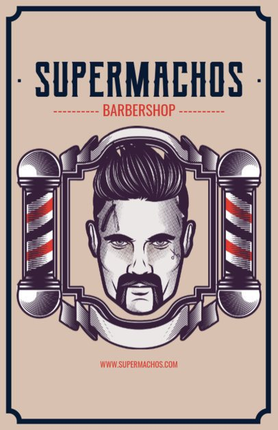 Barber Shop Flyer Maker with Man Illustration 218a