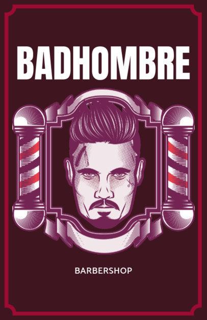 Online Flyer Maker for a Barber Shop Red Theme 218b