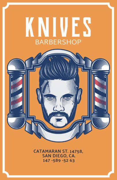 Online Flyer Maker for a Retro Barber Shop 218e