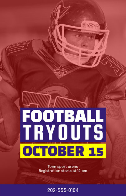 Flyer Template for Sport Events like Football Season 129e